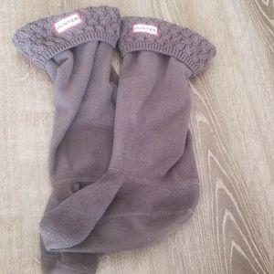 Hunter gray boot socks